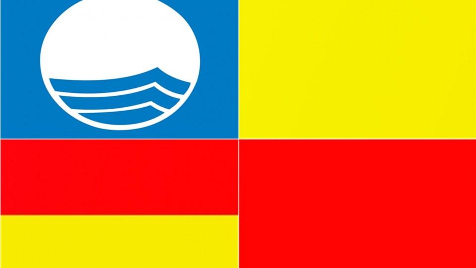 rød blå gul flag