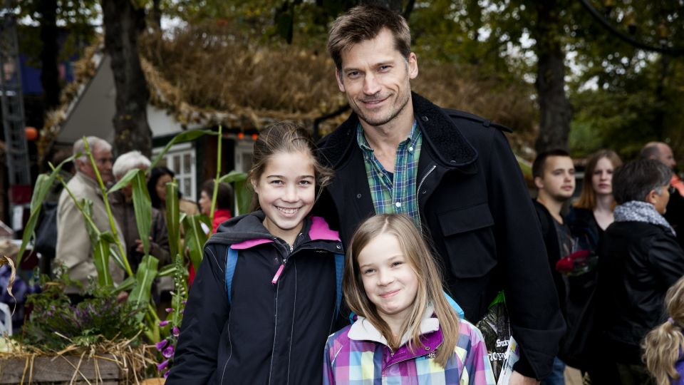 Photo of Nikolaj Coster-Waldau & his  Daughter  Safina Waldau