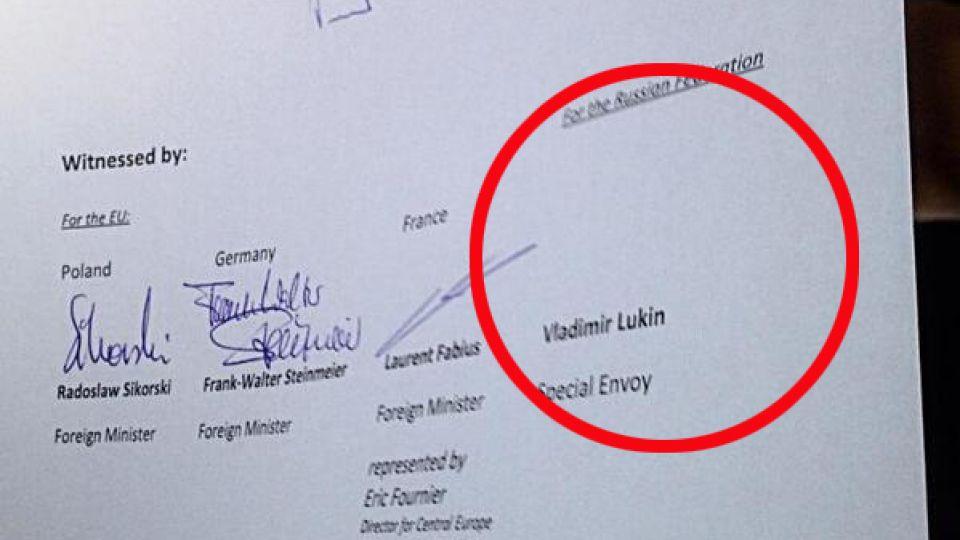underskrift på vegne af