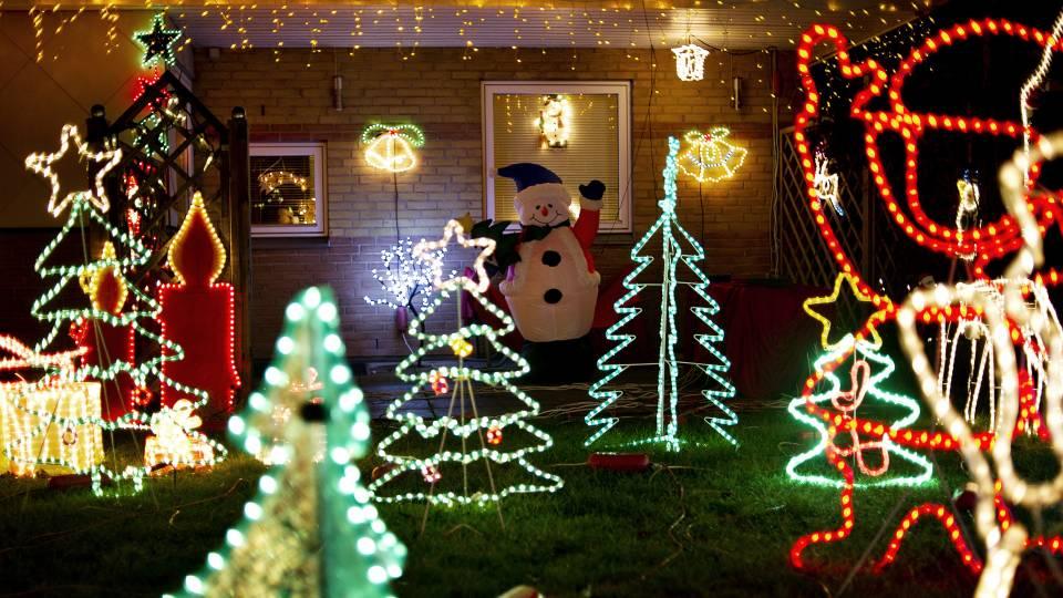 udendørs julebelysning