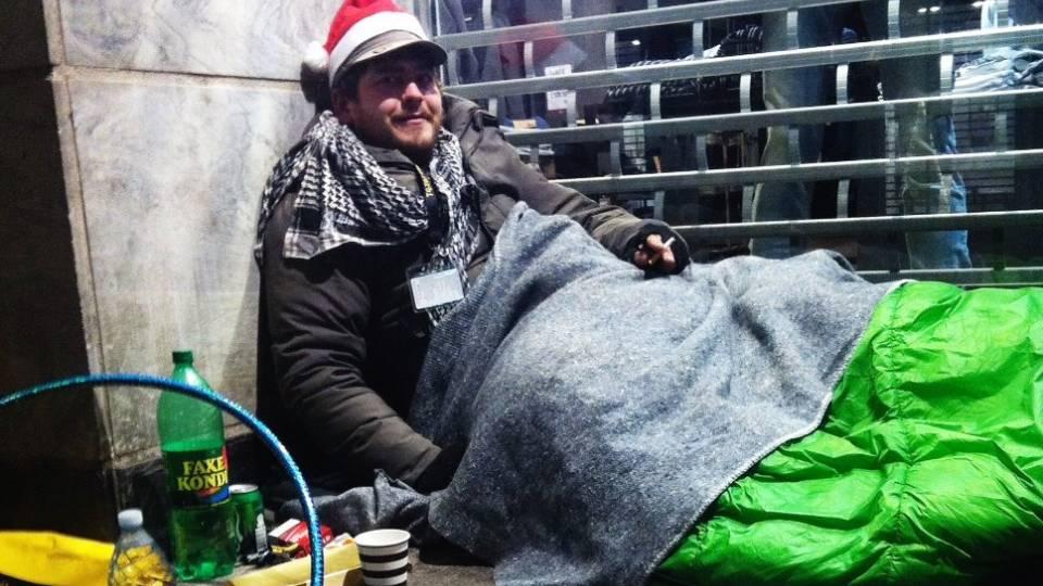 hjemløse jul