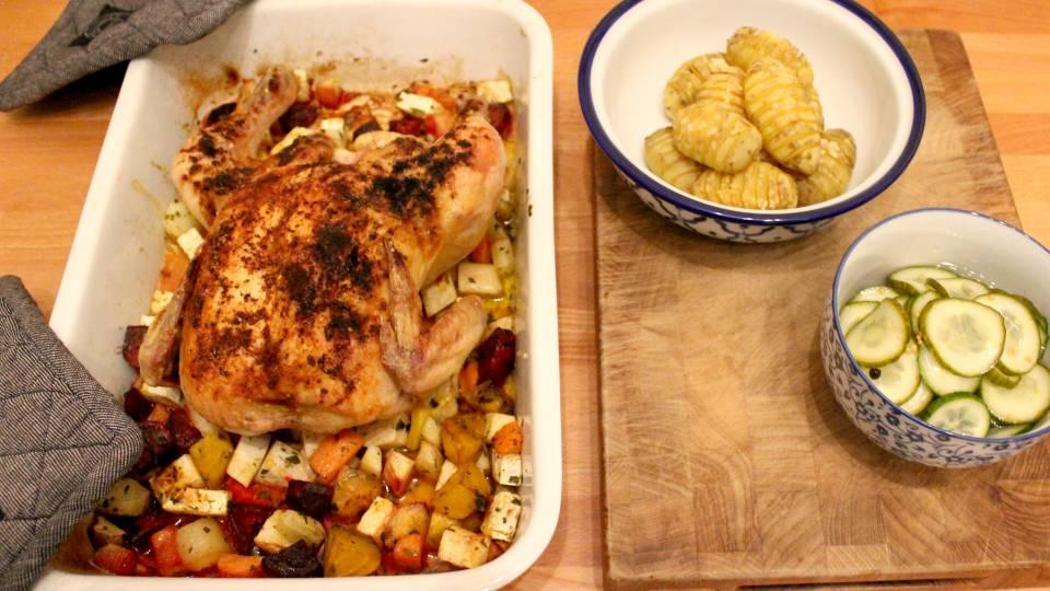 Kylling i ovn med rodfrugter - TV 2