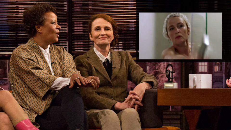 Bodil Jørgensen og Hella Joof fortæller om pinlig brusescene - TV 2