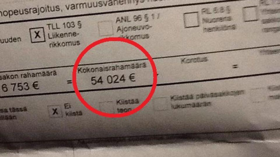 fartbøde pris