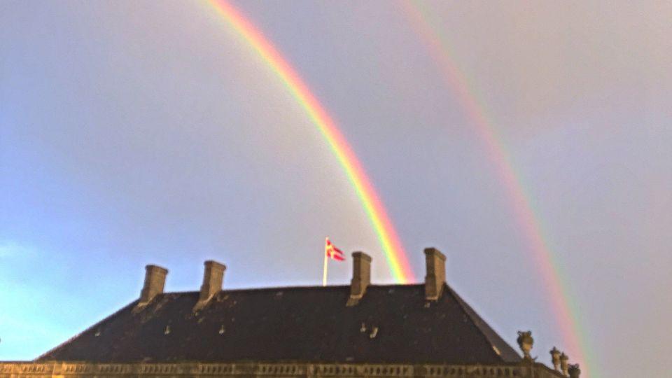 Se billederne: Imponerende dobbeltregnbuer over København - TV 2