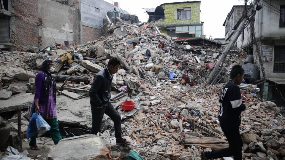 jordskælv i nepal 2015