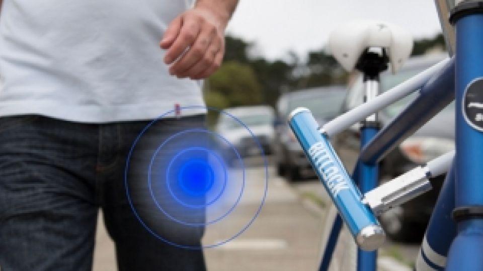 cykellås på cykel