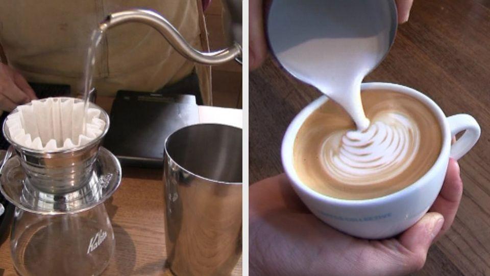 hvordan laver man cafe latte