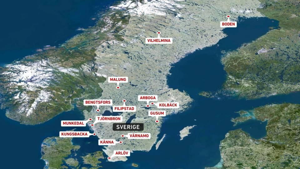 Nordsverige kort