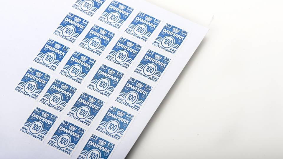 hvad koster et frimærke