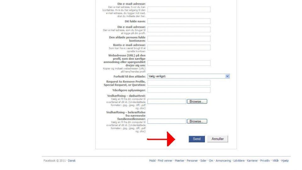 hvordan sletter jeg min facebook profil