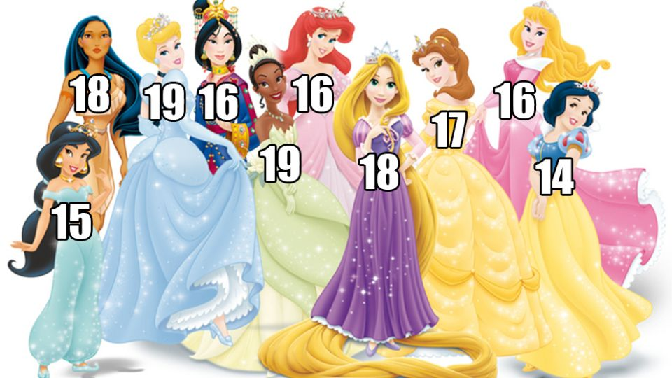 alle disney prinsesser